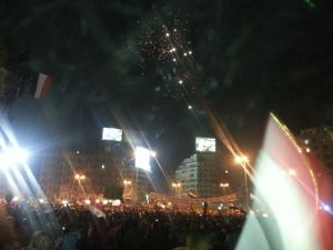 Tahrir Square filled with pro army demonstrators on 7 July
